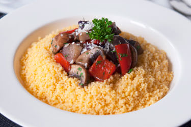 Couscous and sautéed vegetables