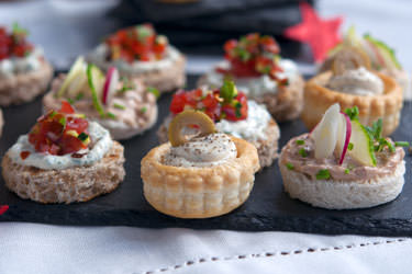 Cream cheese canapes