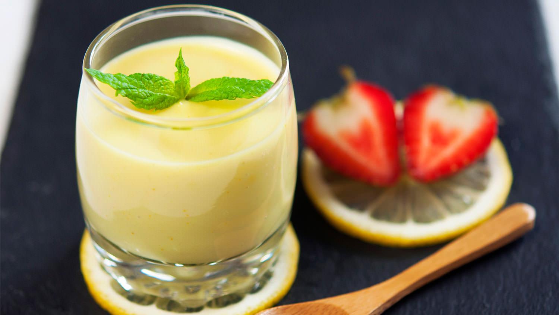 Lemon custard - The Vegan Corner